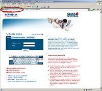 Adresní řádek internetového prohlížeče