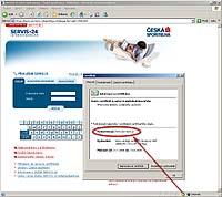 Certifikát serveru pro Internetbanking České spořitelny