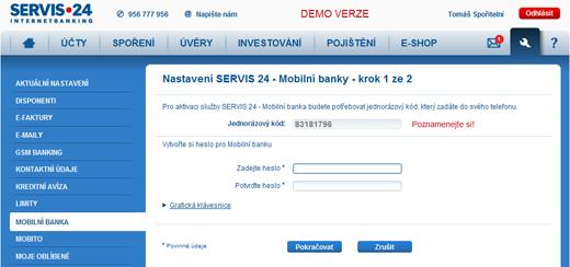 Servis 24 internetbanking – internetové bankovnictví České spořitelny